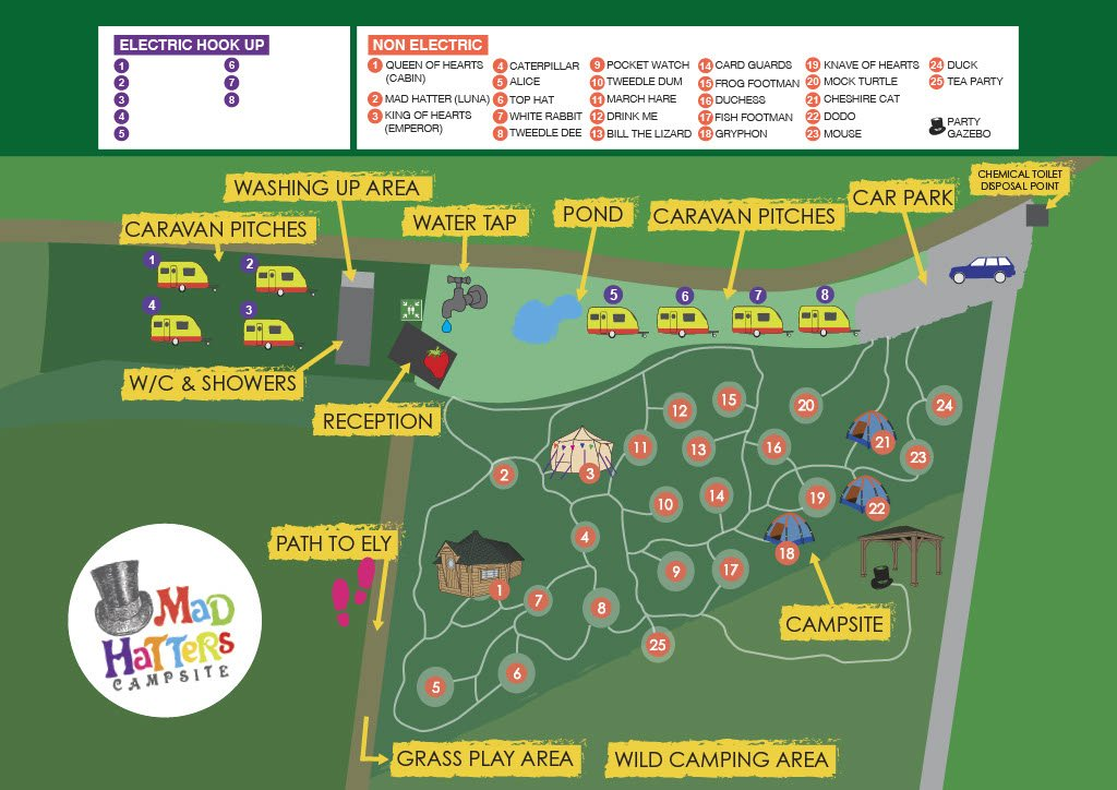 Mad Hatters Map