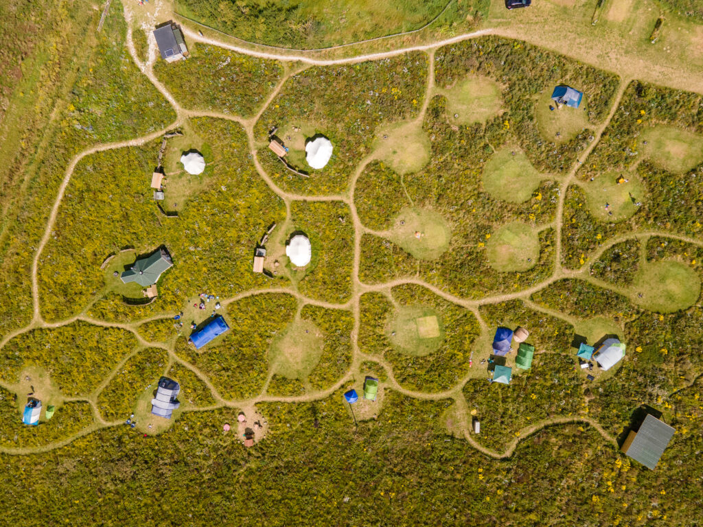 Overview of campsite